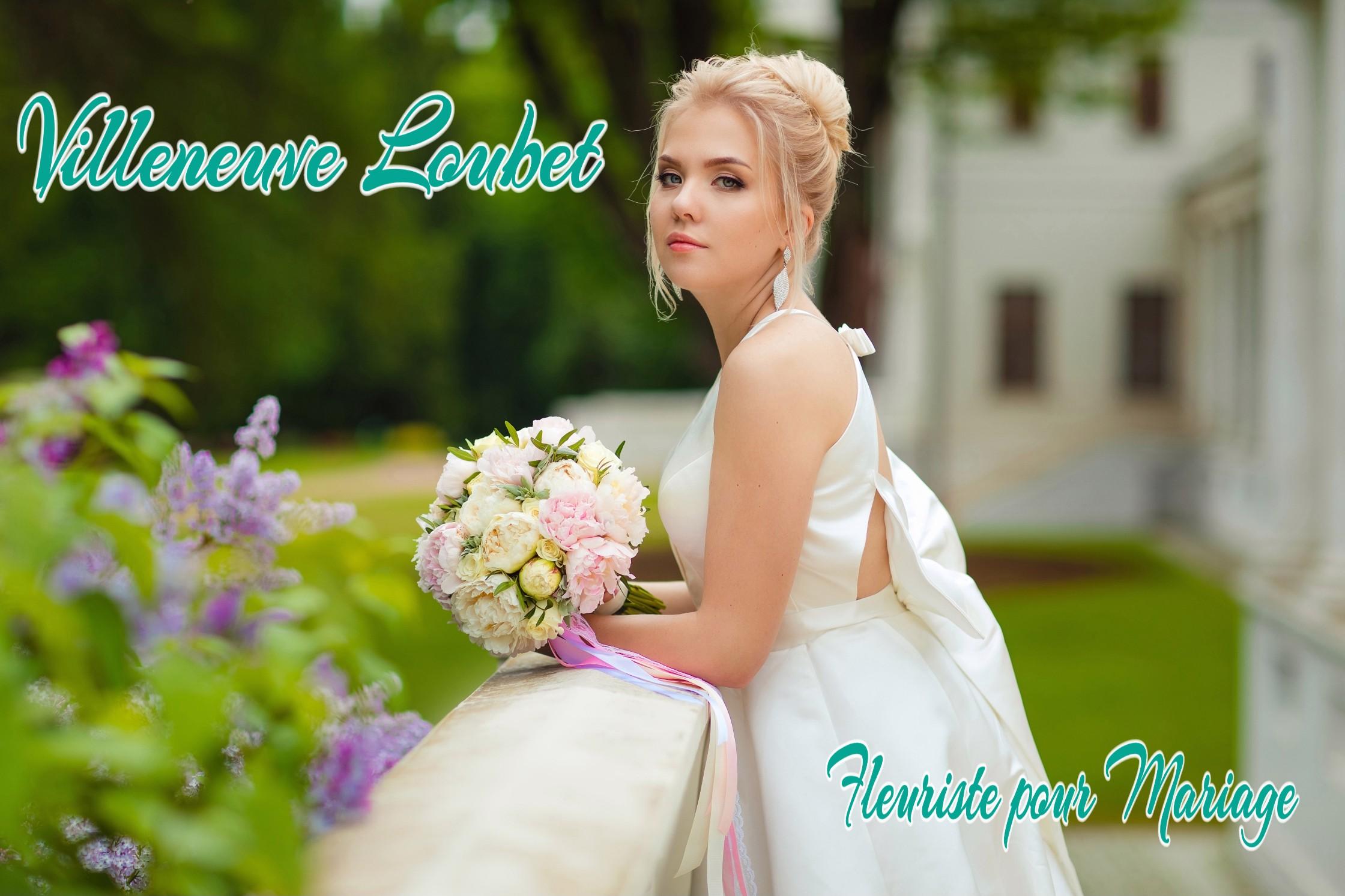 FLEURS MARIAGE VILLENEUVE LOUBET