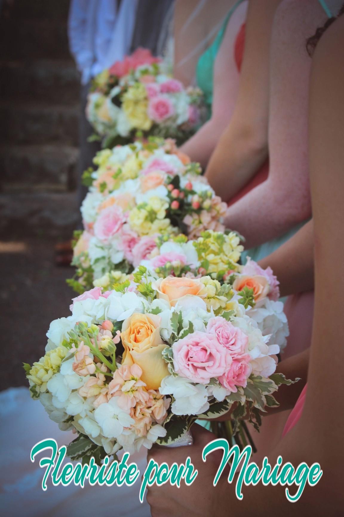 fleurs mariage demoiselles d'honneur à CANNES